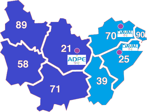 Carte ADPE Bourgogne Franche Comté